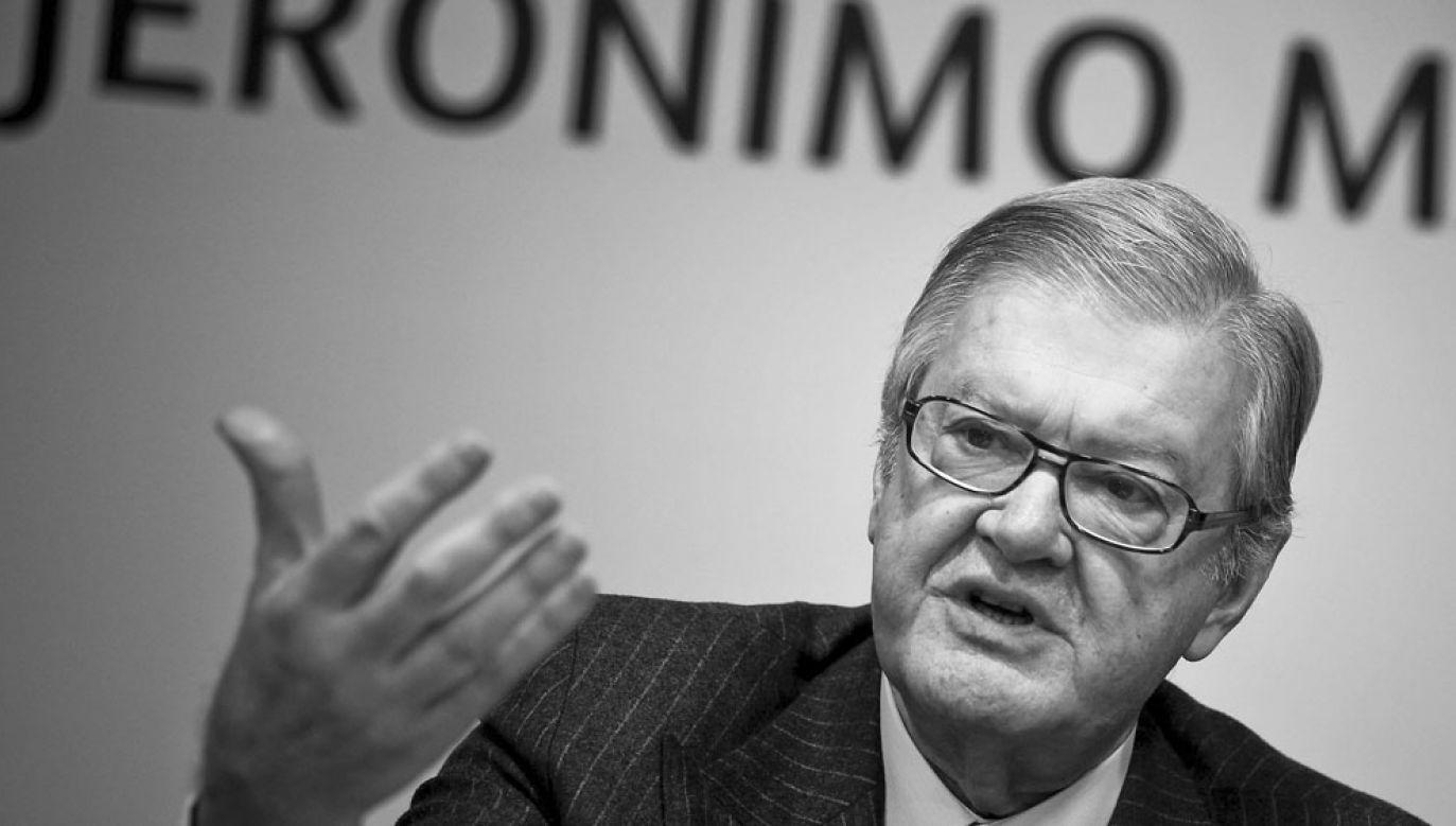 Zmarły w sierpniu w wieku 84 lat Alexandre Soares dos Santos od kilku lat plasował się na drugim miejscu listy najbogatszych ludzi w Portugalii(fot. arch PAP / JOSÉ SENA GOULAO/LUSA)
