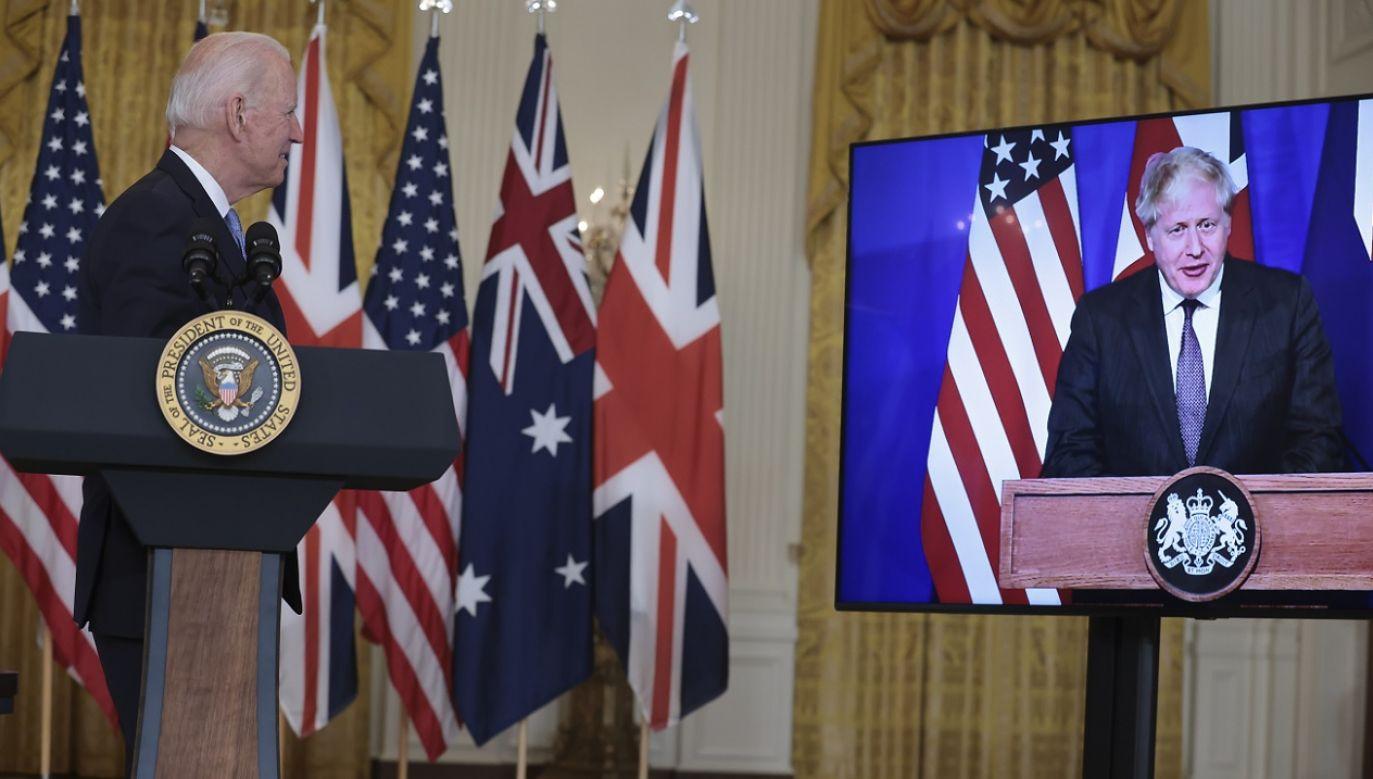 Według ekspertów pakt AUKUS jest odpowiedzią na rosnące wpływy Chin w regionie (fot. PAP/EPA/Oliver Contreras)