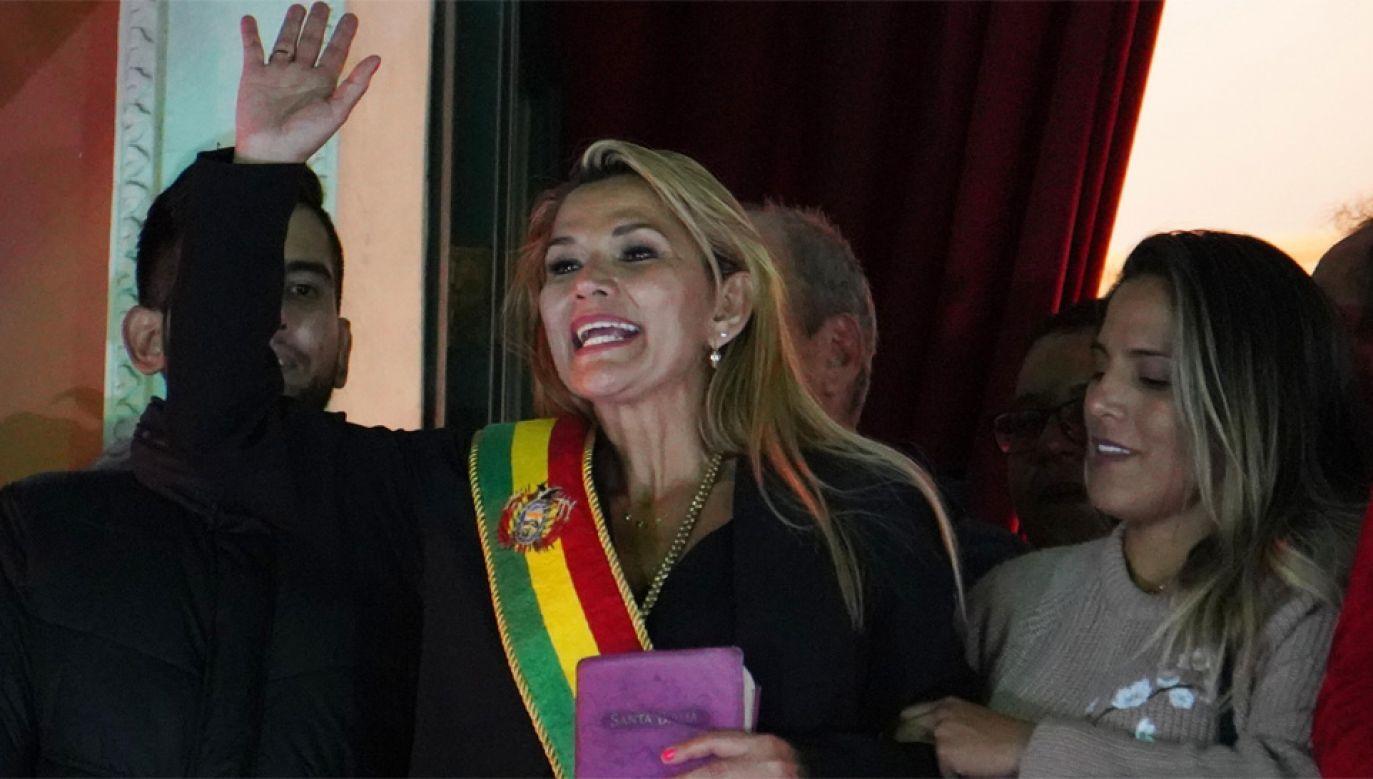 Jeanine Anez Chavez chce szybko przeprowadzić wybory w Boliwii (fot. PAP/EPA/STRINGER)