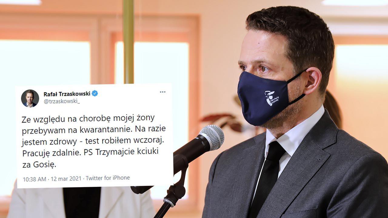 Trzaskowski będzie pracował zdalnie (fot. PAP/Albert Zawada)
