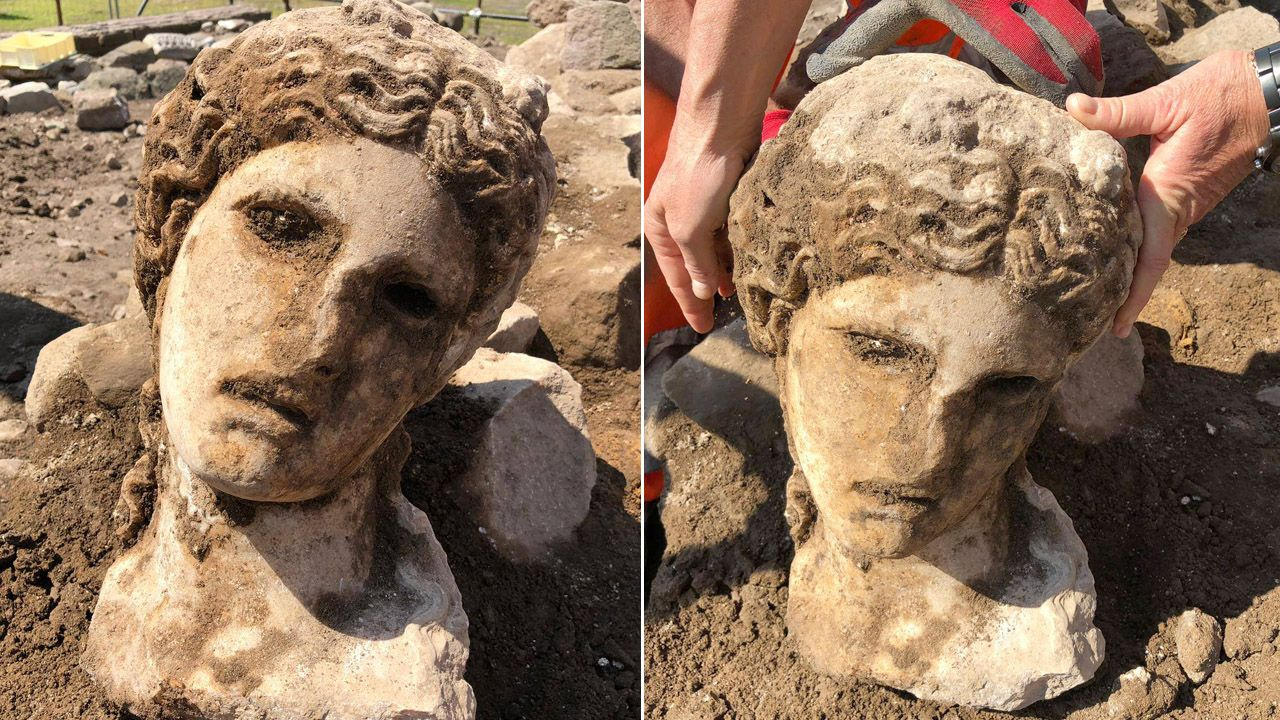 Rzeźba wykonana została z białego marmuru (fot. FB/Sovrintendenza Capitolina ai Beni Culturali)