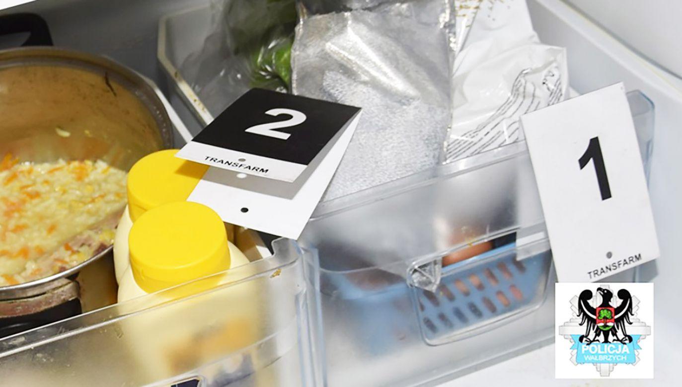 Amfetamina znajdowała się w lodówce (fot. Policja wałbrzyska)