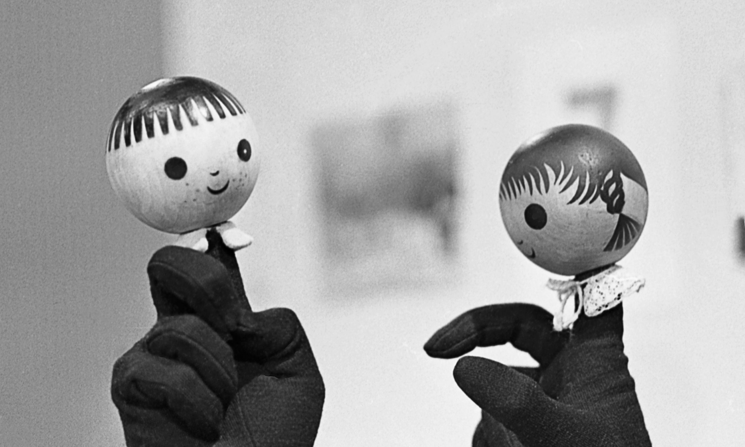 """""""Jacek i Agatka"""" pierwsza dobranocka emitowana przez Telewizję Polską w latach 1962–1973. Fot. TVP"""