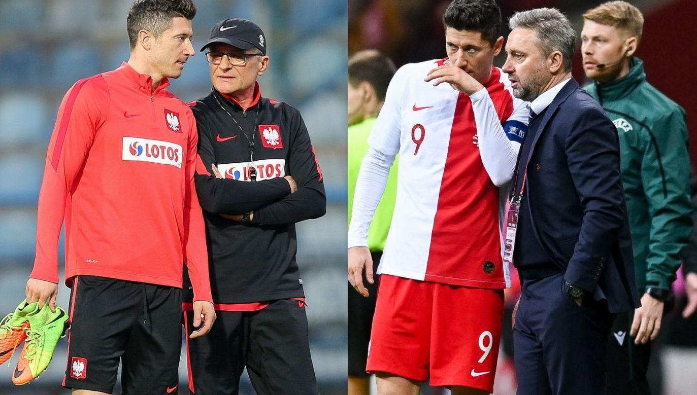 Adam Nawałka pozostaje na razie jedynym selekcjonerem, u którego Robert Lewandowski w pełni rozwinął skrzydła (fot. Getty)