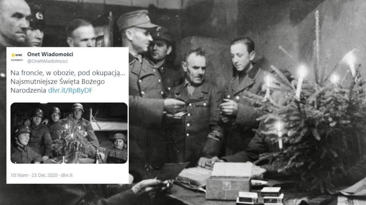 Niemieccy żołnierze na Wigilii pod Stalingradem – zdjęcie główne artykułu Onetu (fot. Bundesarchiv, tt/OnetWiadomosci)