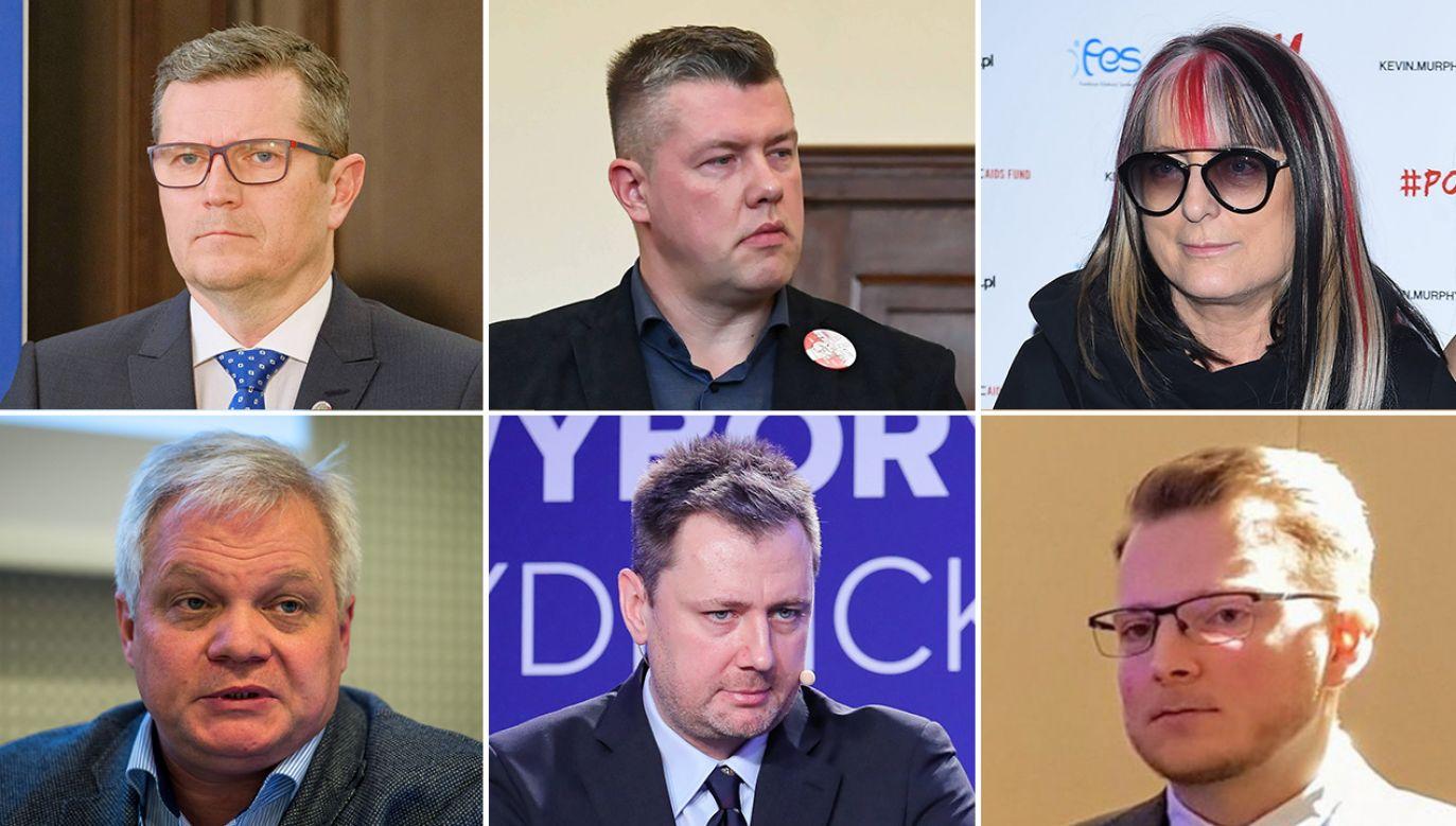 Marcin Bosacki, Jarosław Marciniak, Magdalena Jethon, Krzysztof Łuszczewski, Przemysław Szubartowicz, Marcin Mycielski (fot. PAP; Twitter/ODFoundation)