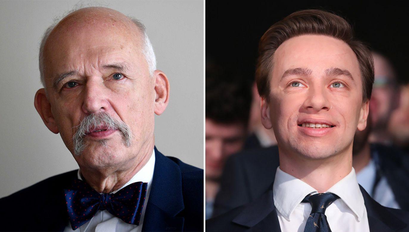 Choć kandydatem na prezydenta Konfederacji ma być Krzysztof Bosak, to nie brakuje głosów, że Janusz Korwin-Mikke również może zdecydować się na start. (fot. arch. PAP/Darek Delmanowicz, Tomasz Gzell)