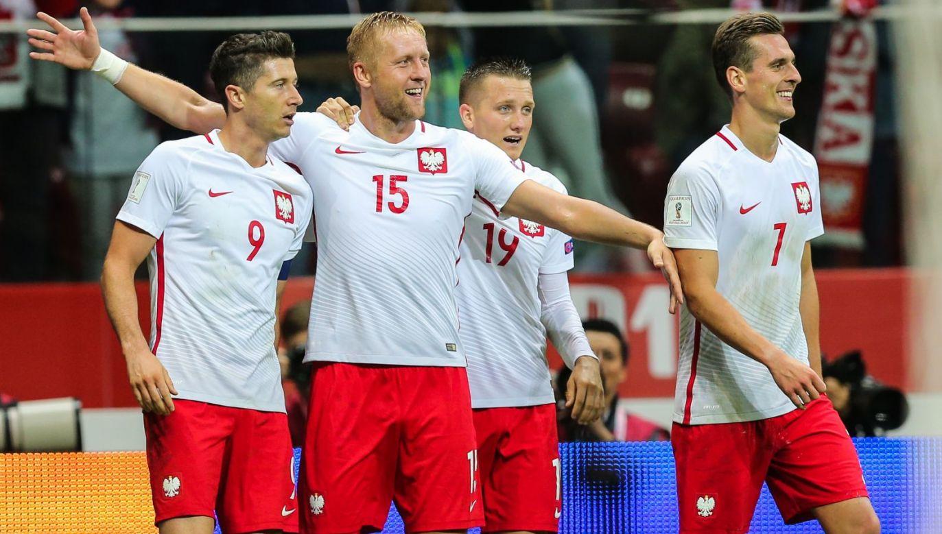 Robert Lewandowski, Kamil Glik, Piotr Zieliński, Arkadiusz Milik (fot. Getty Images)