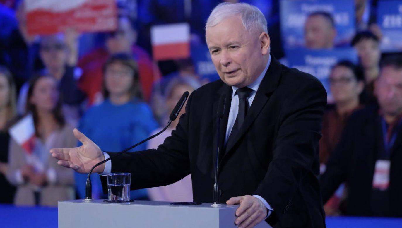 Jarosław Kaczyński mówił też o napięciach w Zjednoczonej Prawicy (fot. Sean Gallup/Getty Images)