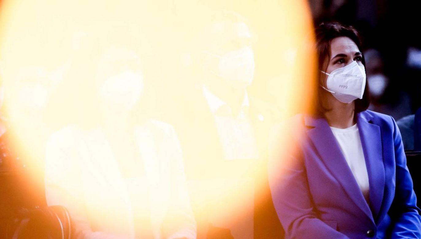 Swiatłana Cichanouska gościła w Wielkiej Brytanii (fot. PAP/EPA/FILIP SINGER)