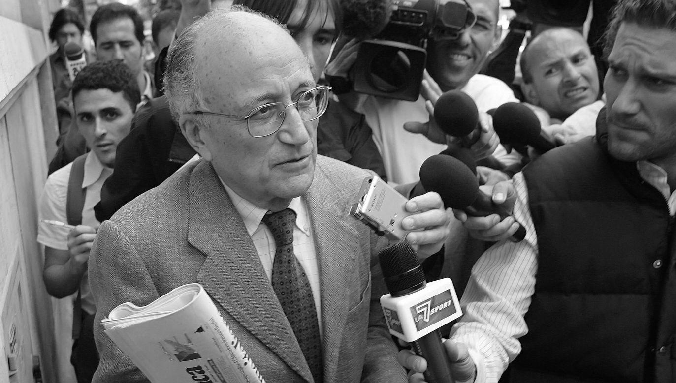 Francesco Saverio Borelli kierował dochodzeniem w sprawie gigantycznej afery korupcyjnej Czyste Ręce (fot. Reuters/Dario Pignatelli)
