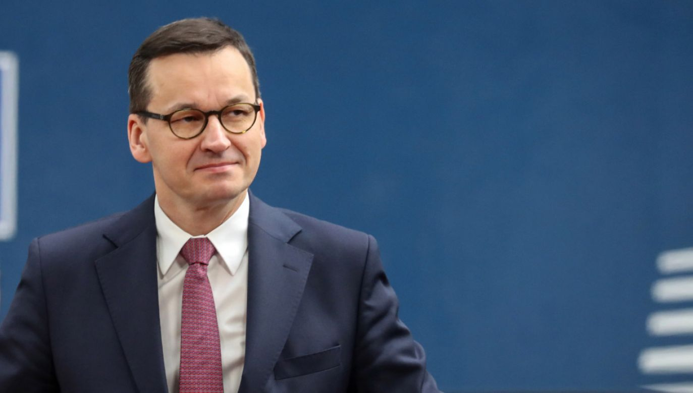 Premier Mateusz Morawiecki przebywa w Brukseli (fot. PAP/EPA/LUDOVIC MARIN)