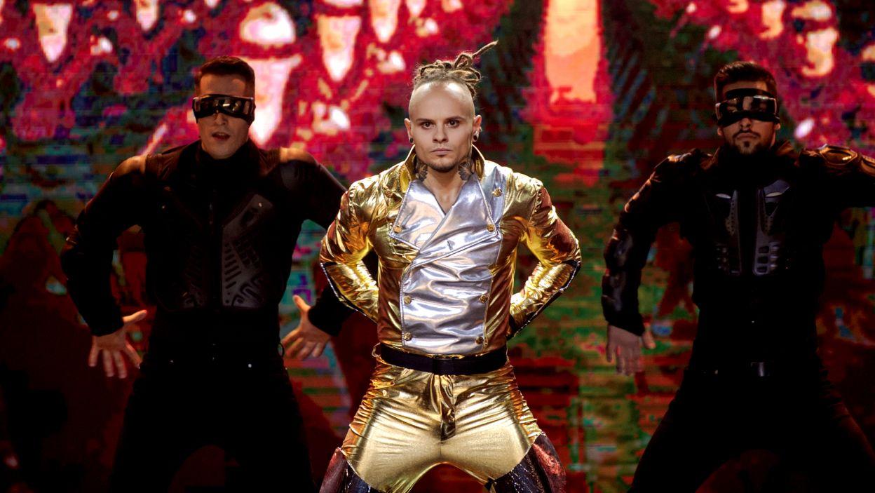 Jednym z najbardziej zapadającym w pamięć występem była solówka Mateusza Janusza do utworu Michaela Jacksona (fot. TVP)
