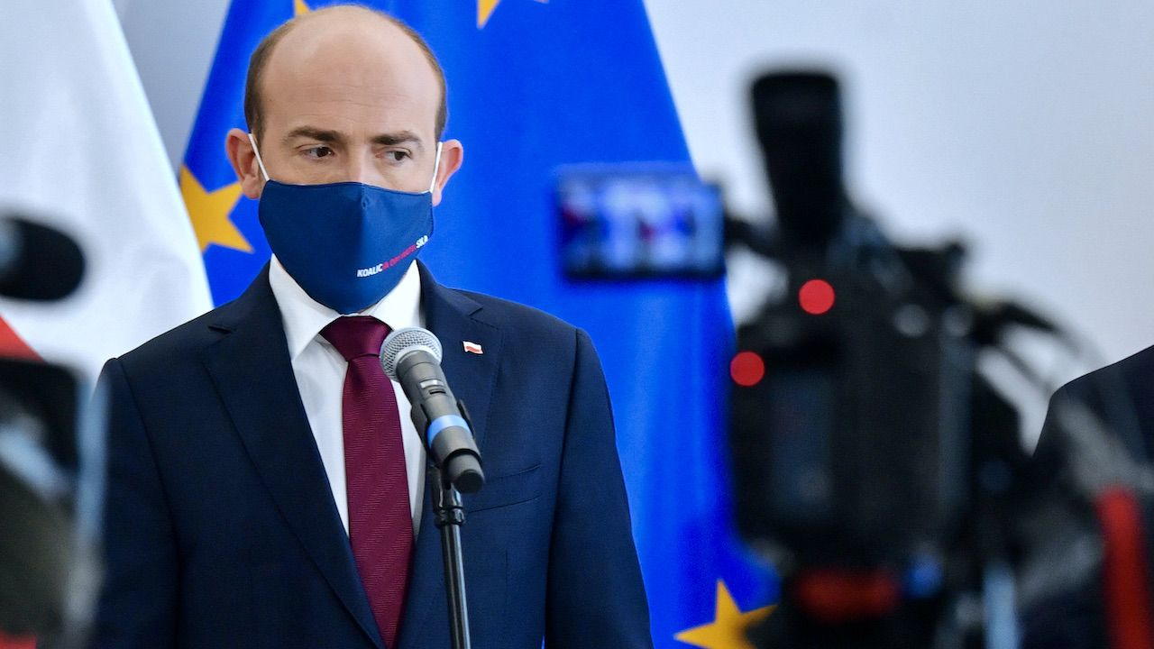 Borys Budka mógł już się pogodzić z osłabieniem roli PO na opozycyjnej scenie politycznej – uważa rozmówca tvp.info (fot. PAP/Radek Pietruszka)