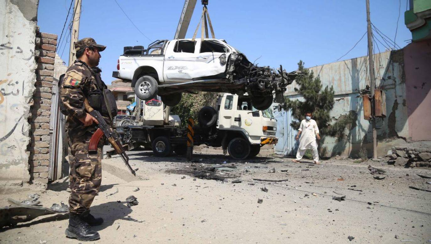 Nie wiadomo jaka była przyczyna eksplozji (fot. PAP/EPA/GHULAMULLAH HABIBI)