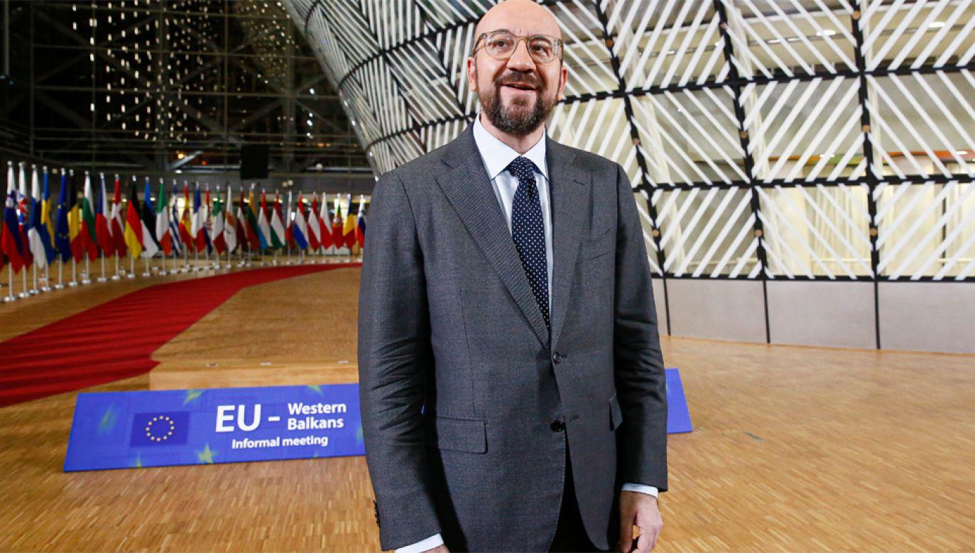 Przewodniczący Rady Europejskiej Charles Michel (fot. PAP/EPA/JULIEN WARNAND)