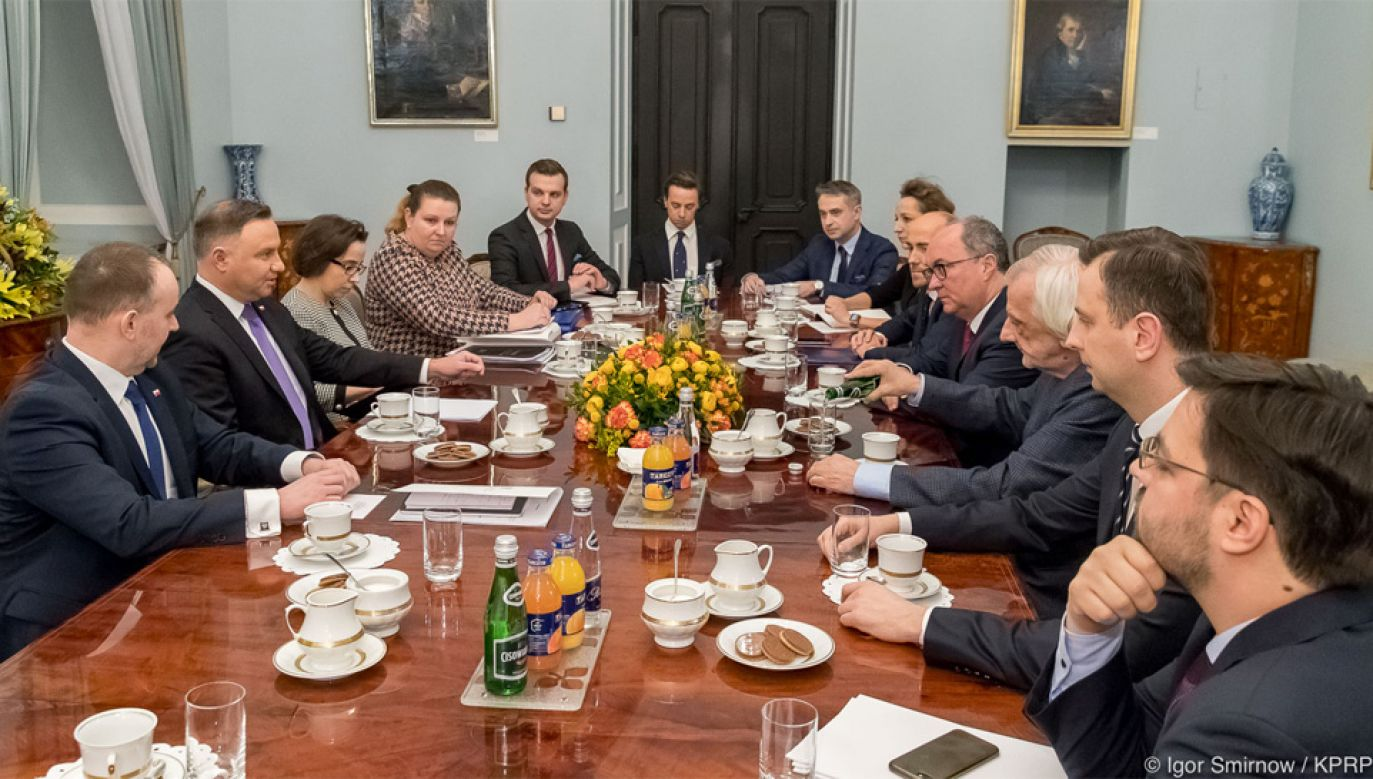 Prezydent Andrzej Duda przyjął posłów w Pałacu Prezydenckim (fot. KPRP/Igor Smirnow)
