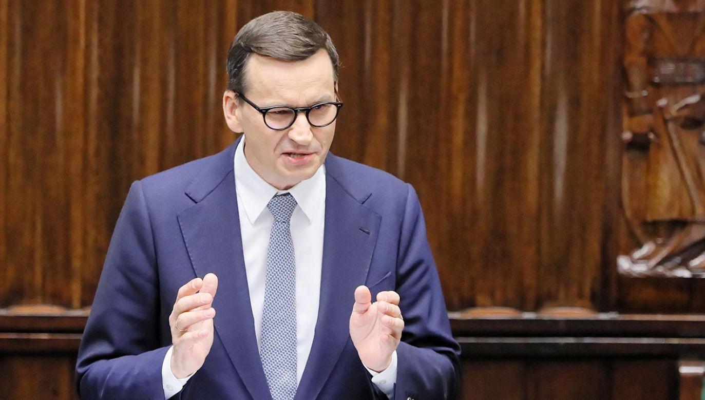 Premier Morawiecki o polexicie (fot. PAP/Paweł Supernak)