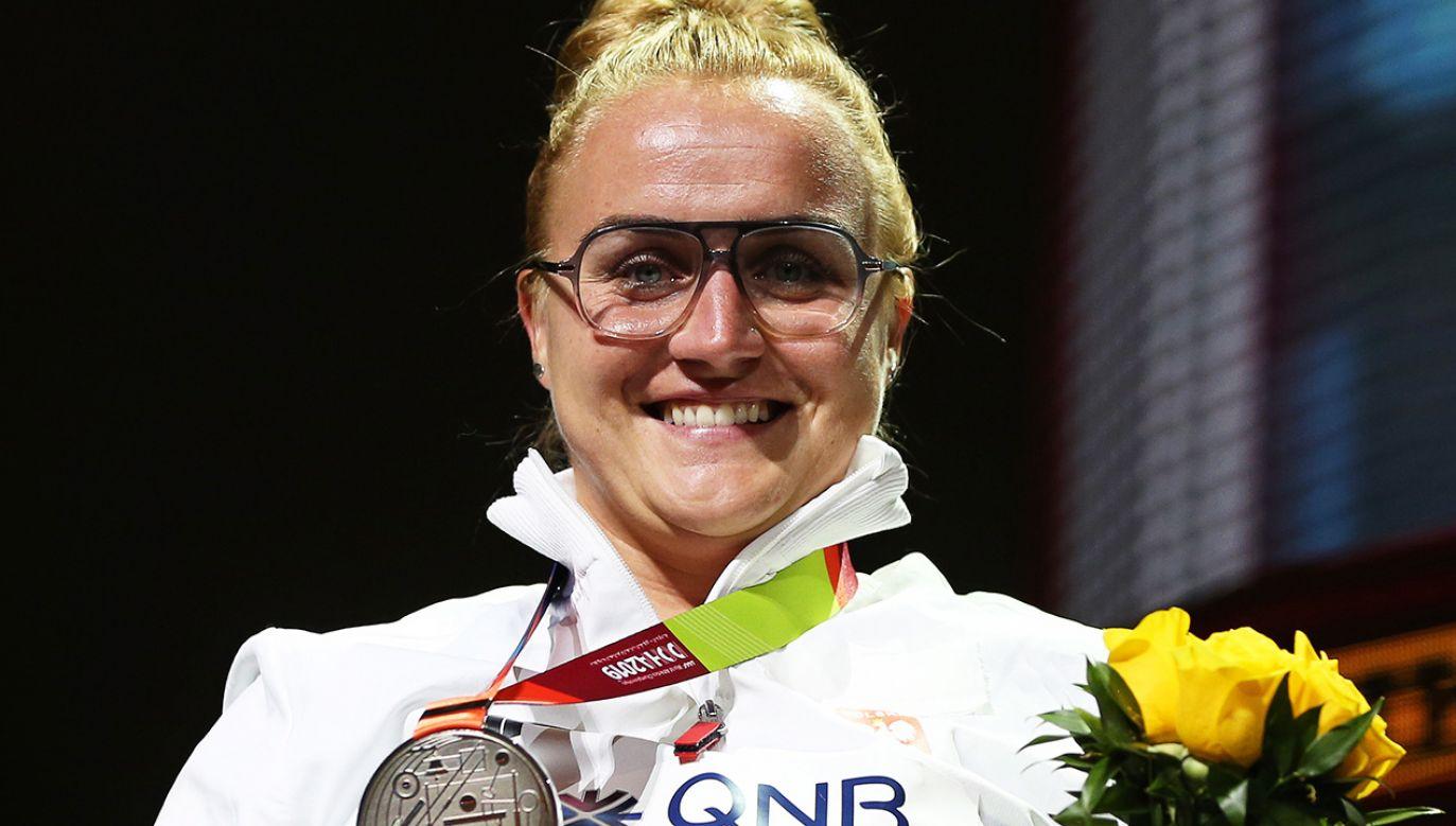 Joanna Fiodorow wreszcie ma powody do uśmiechu (fot. PAP/EPA/ALI HAIDER)