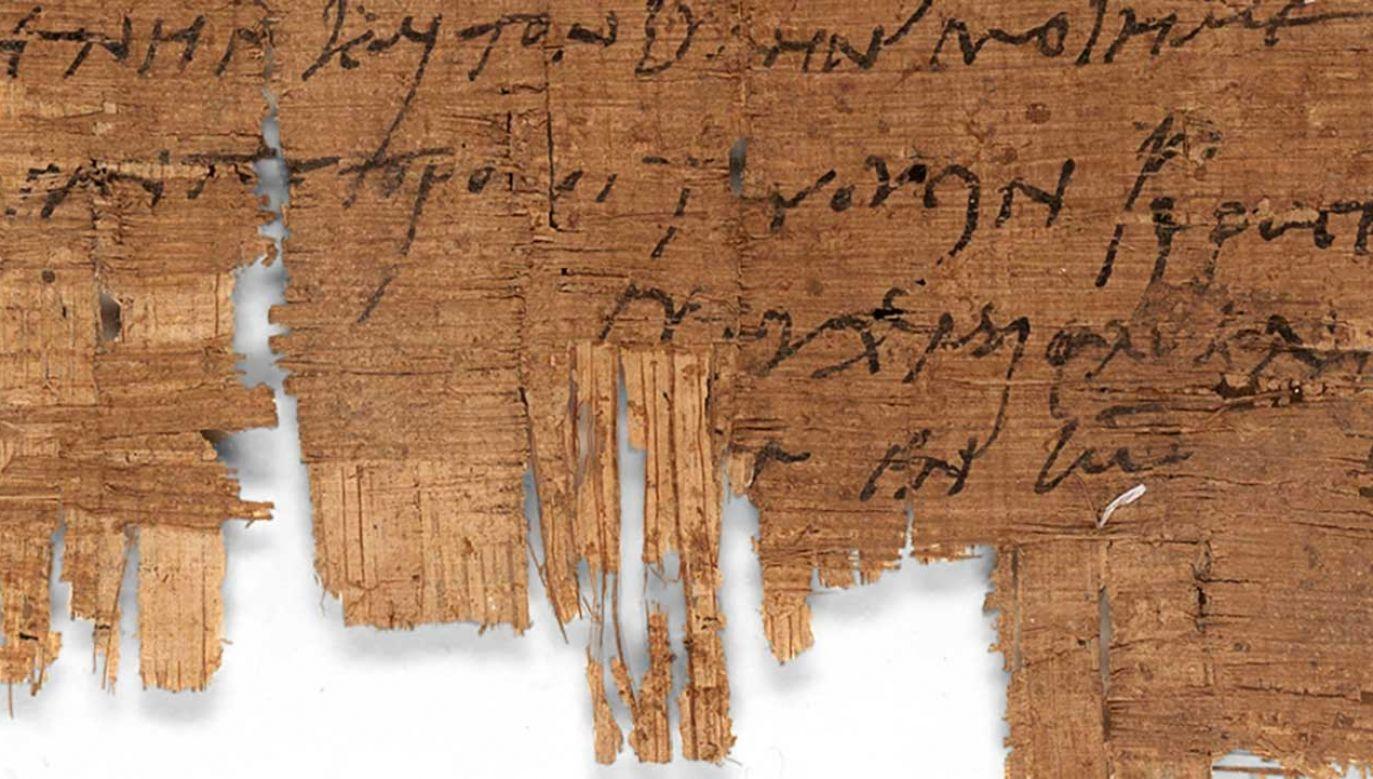 """Papirus o symbolu """"P.Bas. 2.43"""" jest już od ponad 100 lat w posiadaniu uczelni w Bazylei (fot. TT/University of Basel)"""