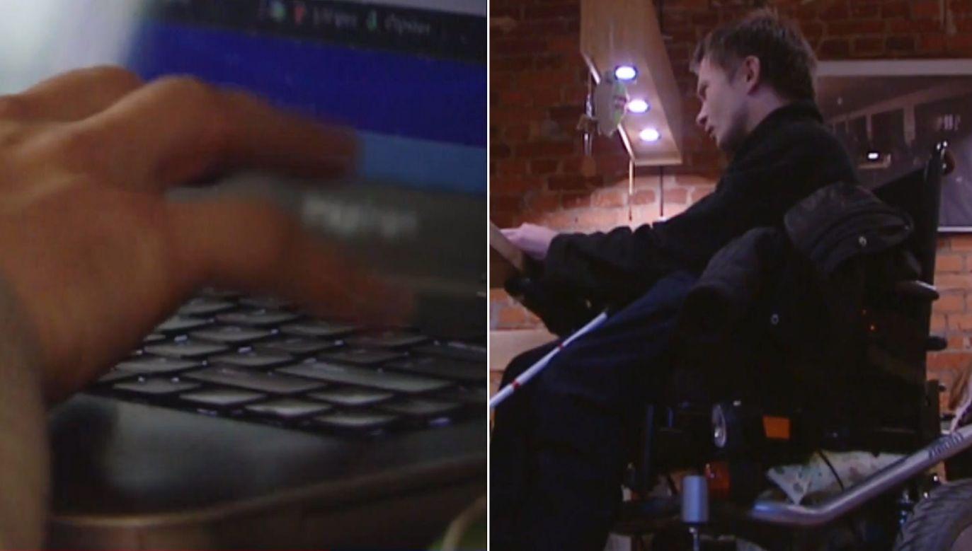 Niewidomy student stracił dwa laptopy (fot. TVP)