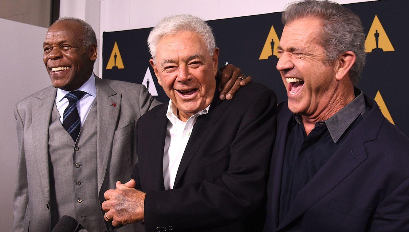 Danny Glover, Richard Donner i  Mel Gibson (fot. Joshua Blanchard/Getty Images)