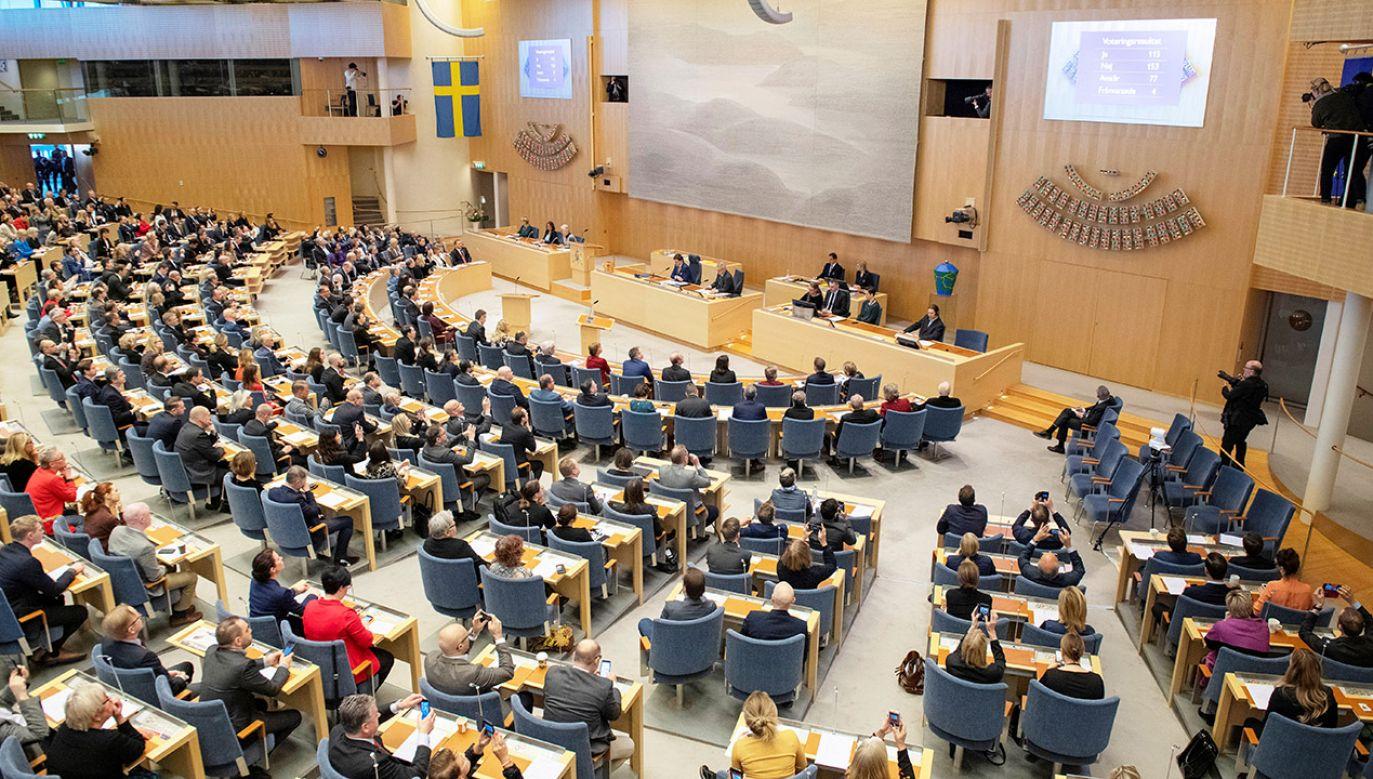 W szwedzkim parlamencie nadal najwięcej posłów mają socjaldemokraci (fot.  TT News Agency/Jessica Gow/via REUTERS)