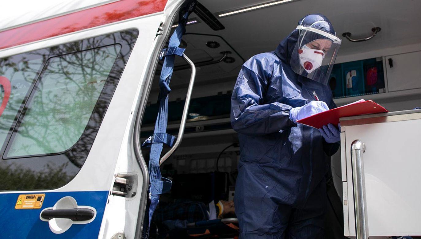 Najnowsze dane o stanie epidemii w Polsce (fot. Jacek Szydlowski/NurPhoto via Getty Images)