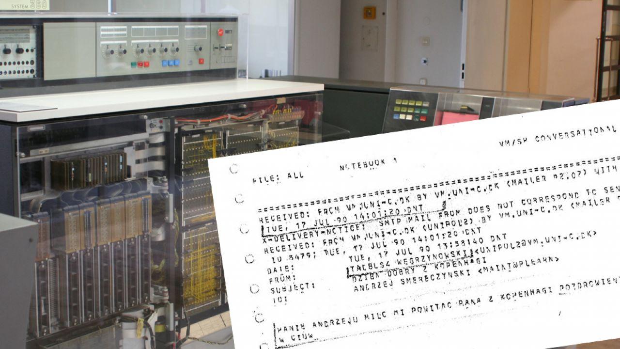 Pierwszą wiadomość wysłano za pomocą sieci BITNET i EARN (fot. kalendarium.icm.edu.pl/ Wikipedia/cc)