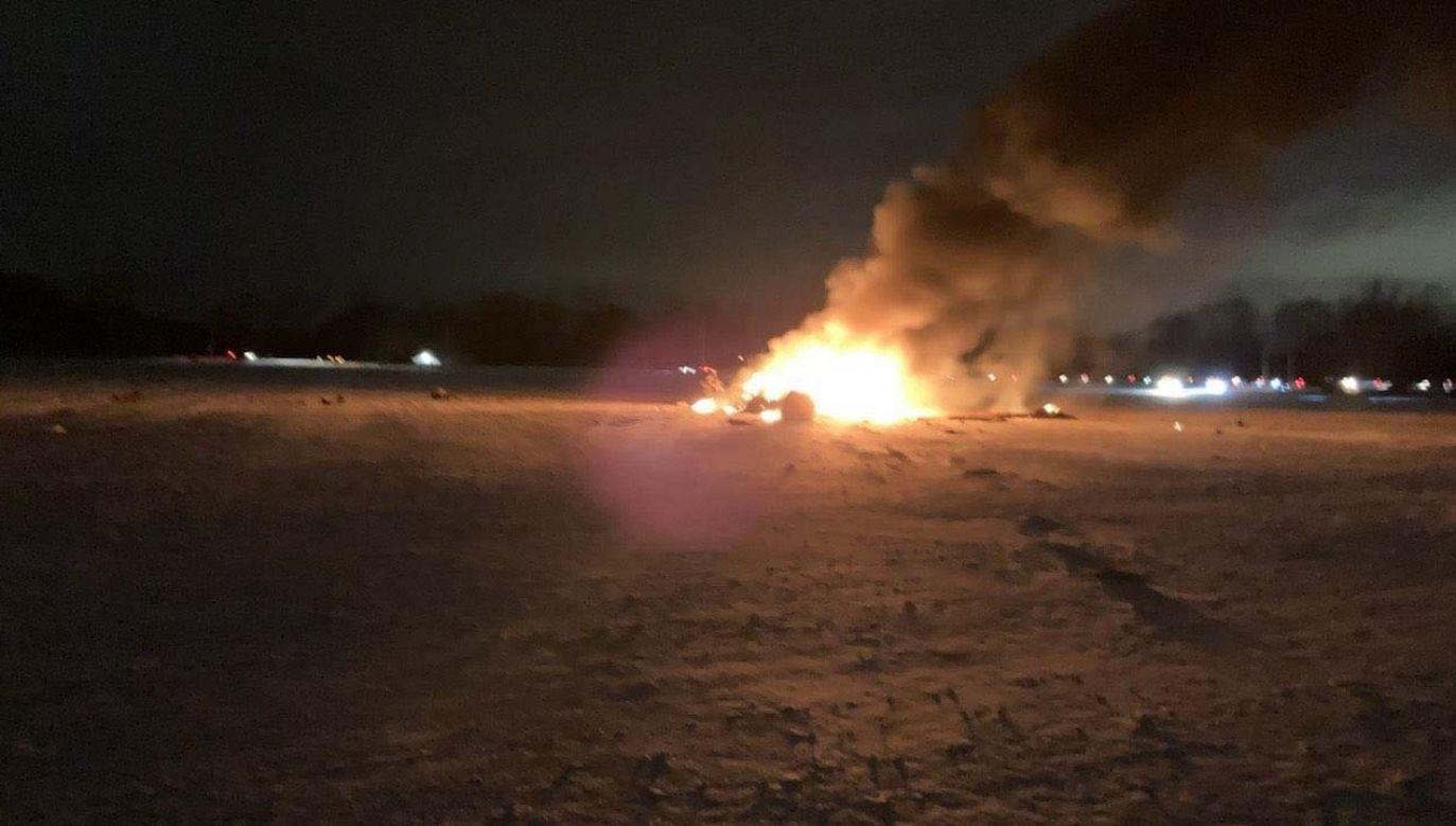 Nikt nie przeżył katastrofy (fot. Maureen McGuire/WROC-TV)