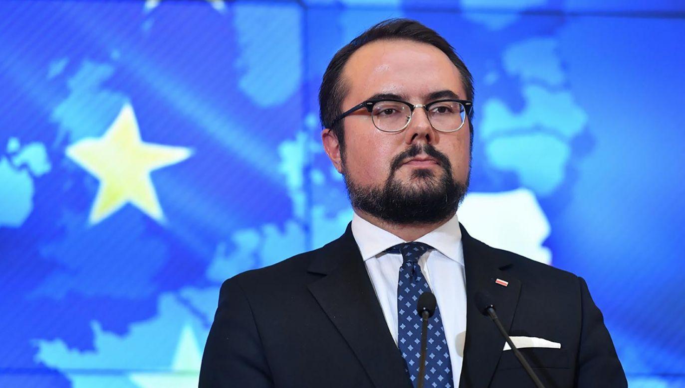 Jabłoński o tzw. praworządności (fot. PAP/Piotr Nowak)