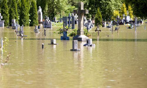 Czerwiec 2010 roku. Dzień po przerwaniu wału w Zastanowie Polanowskim, woda zalała obszar gminy Wilków. Fot. PAP/Wojciech Pacewicz