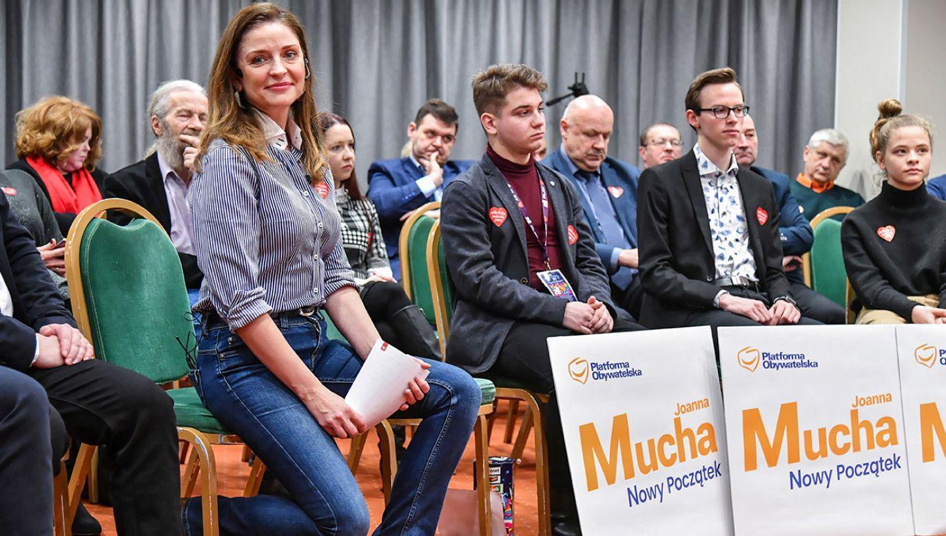 Joanna Mucha poinformowała, że rezygnuje z ubiegania się o stanowisko przewodniczącego Platformy  (fot. PAP/Wojtek Jargiło)