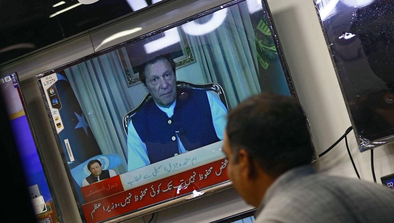"""Zdaniem premiera Pakistanu rosnący globalny nacjonalizm """"uwydatnił islamofobię"""" (fot.PAP/EPA)"""