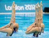 Na pływalni było na co popatrzeć (fot.Getty Images)