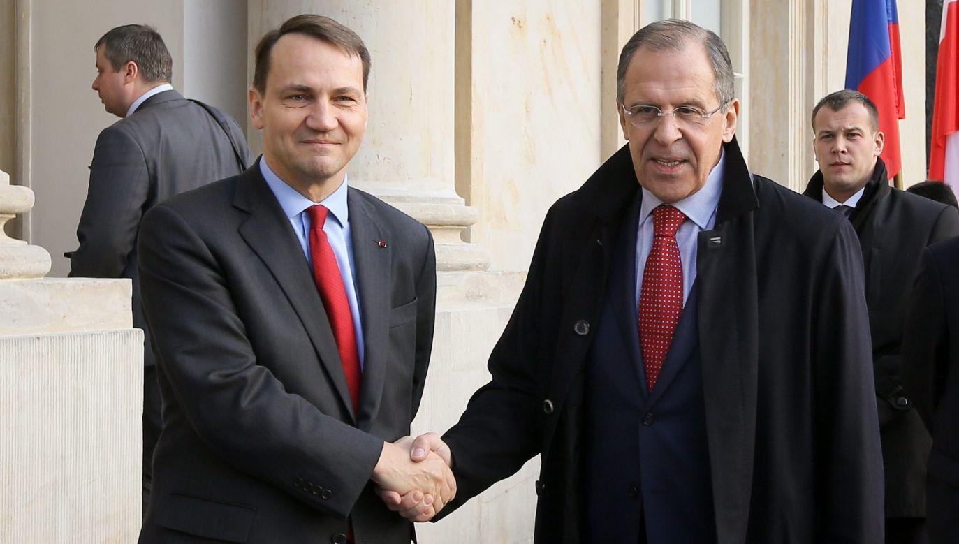 Radosław Sikorski i Siergiej Ławrow (fot. arch.PAP/Paweł Supernak)