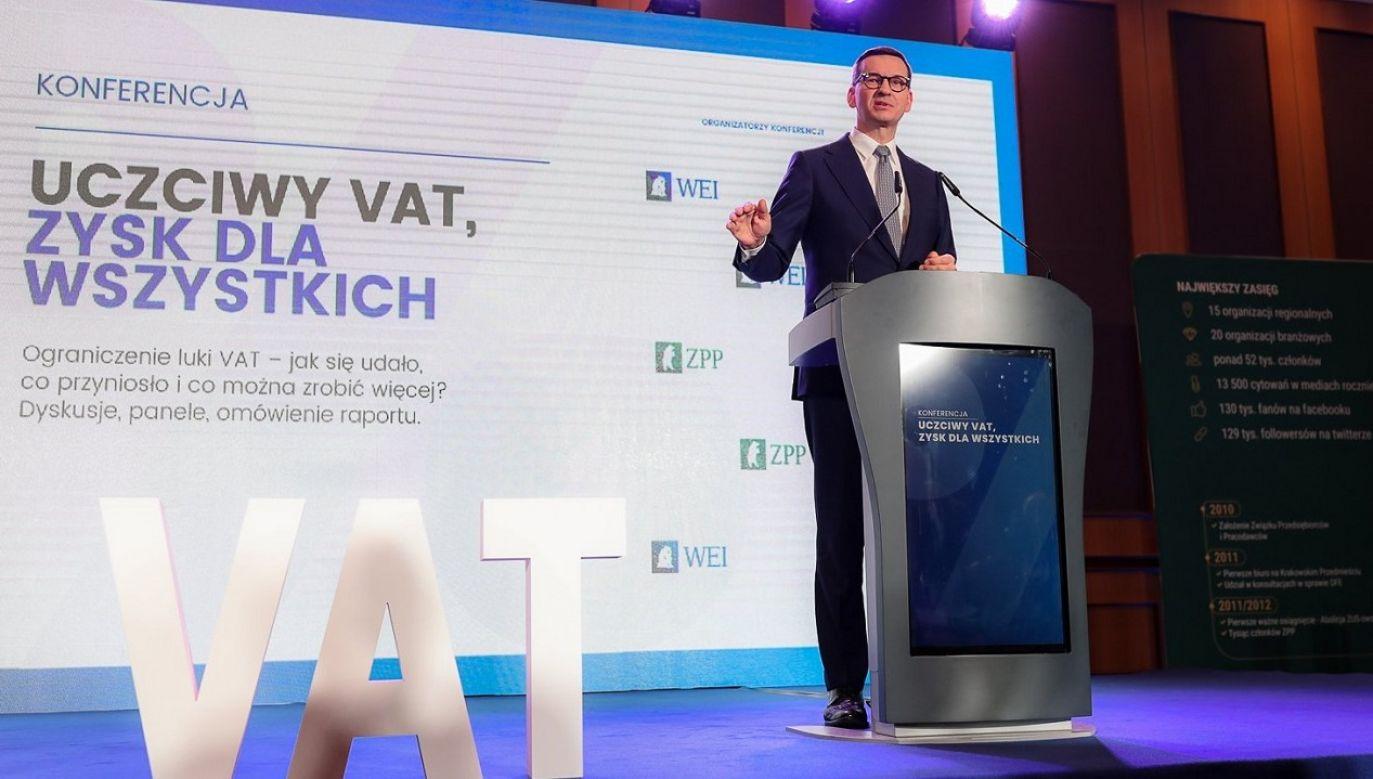 Konferencja premiera Morawieckiego (fot. Adam Guz/KPRM)