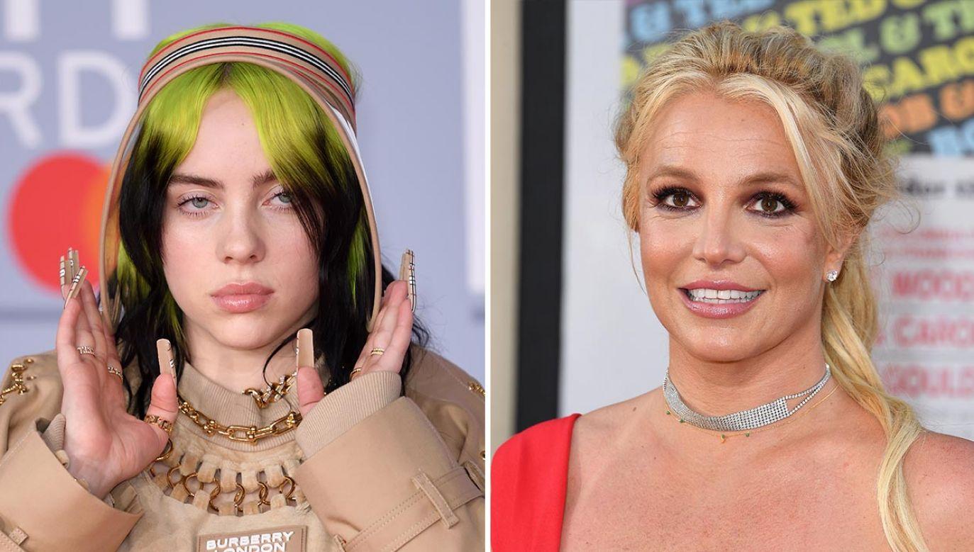 Billie Eilish cieszy się, że nie jest jak Britney Spears (fot. Karwai Tang/WireImage;  Steve Granitz/WireImage)