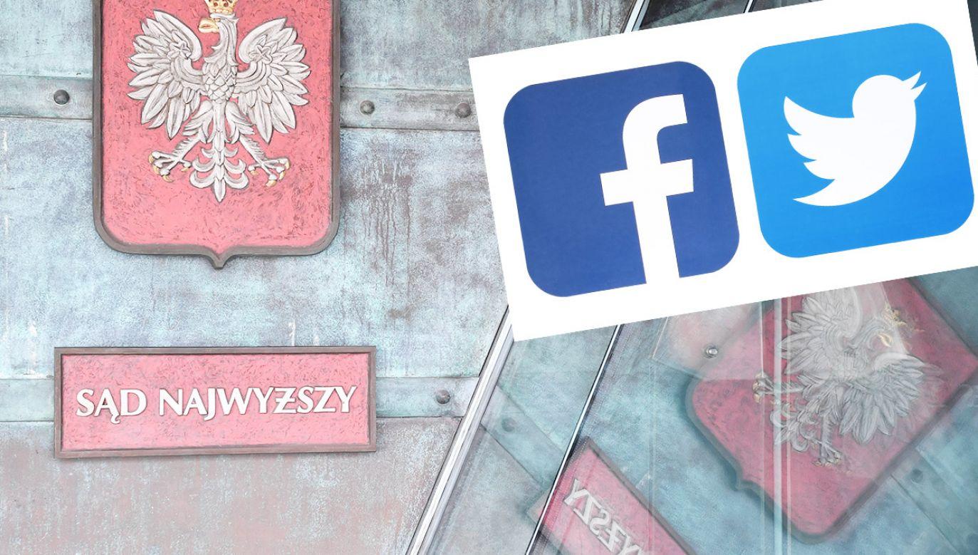 Poprzedni profil Sądu Najwyższego na FB przejął inny podmiot (fot. PAP/Radek Pietruszka; Shutterstock)