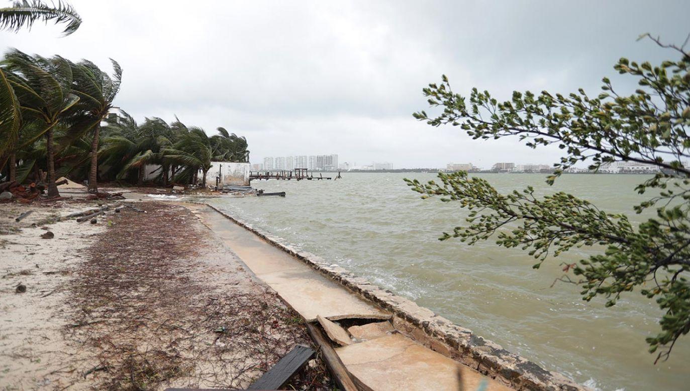 W środę cyklon dotarł do Luizjany i Missisipi, powodując poważne zniszczenia budynków biurowych i domów (fot.  Rodolfo Flores / Eyepix Group/Barcroft Media via Getty Images)