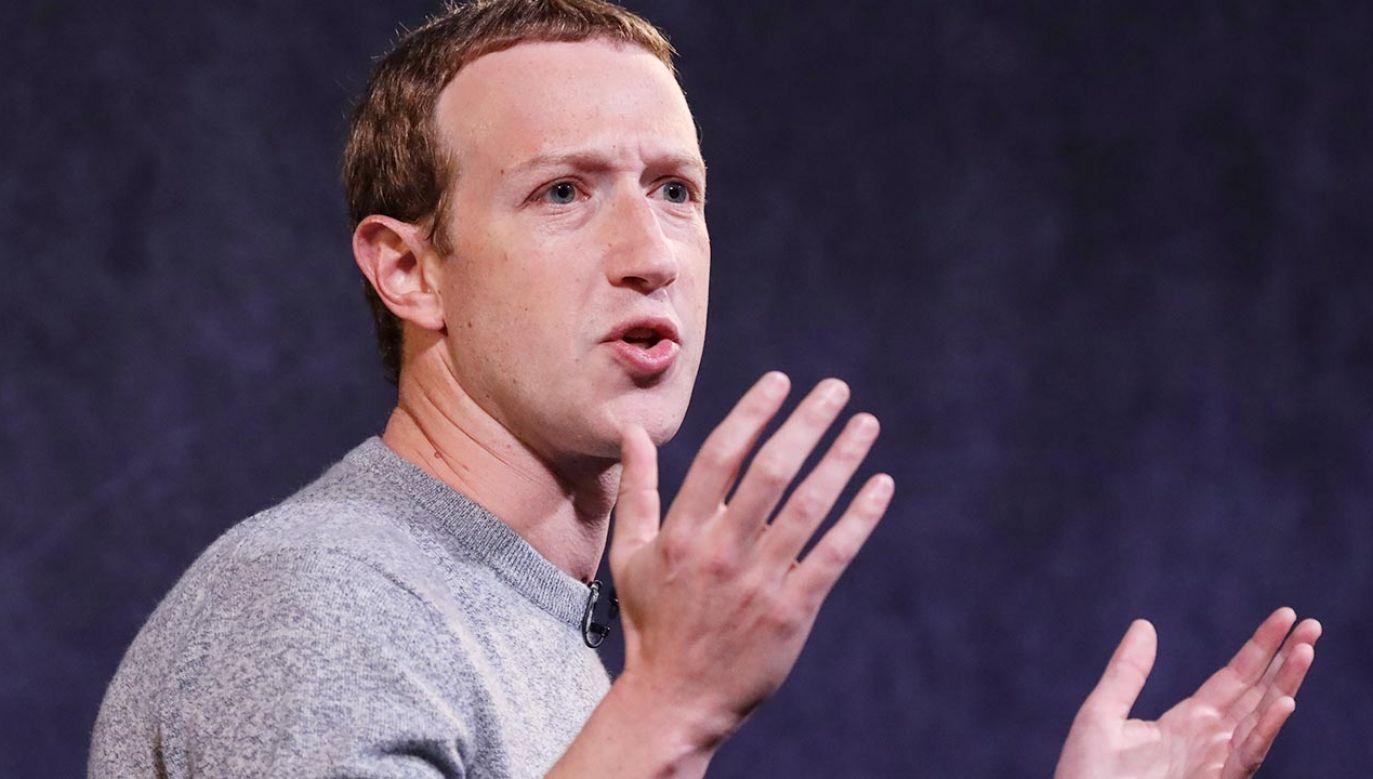 Mark Zuckerberg miał odgrywać w sprawie znacznie większą rolę niż dotąd przypuszczano (fot. Drew Angerer/Getty Images)