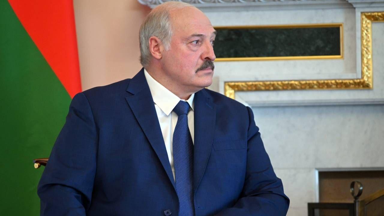 Prezydent Białorusi Alaksandr Łukaszenka (fot. PAP/EPA/ALEXEI NIKOLSKY/SPUTNIK/KREMLIN / POOL)