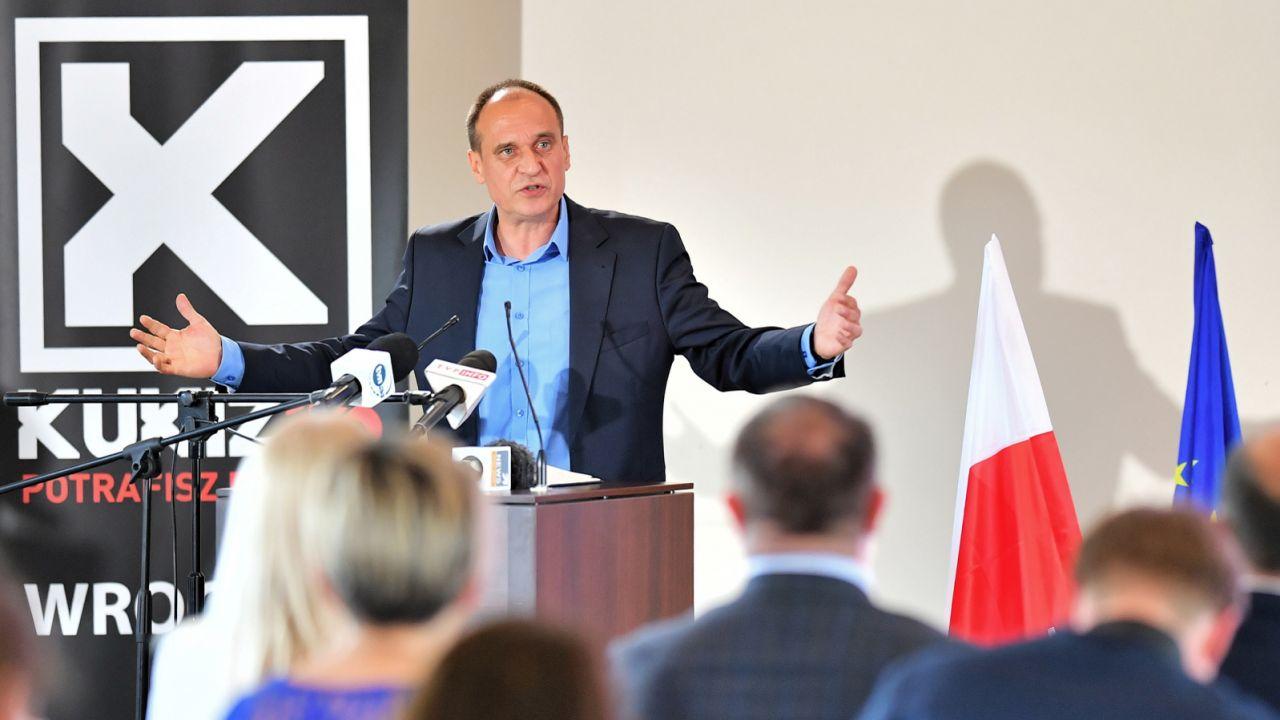 W czasie konwencji we Wrocławiu zaprezentowano kandydatów Kukiz'15 w wyborach do PE w okręgu dolnośląsko-opolskim (fot. PAP/Jan Karwowski)