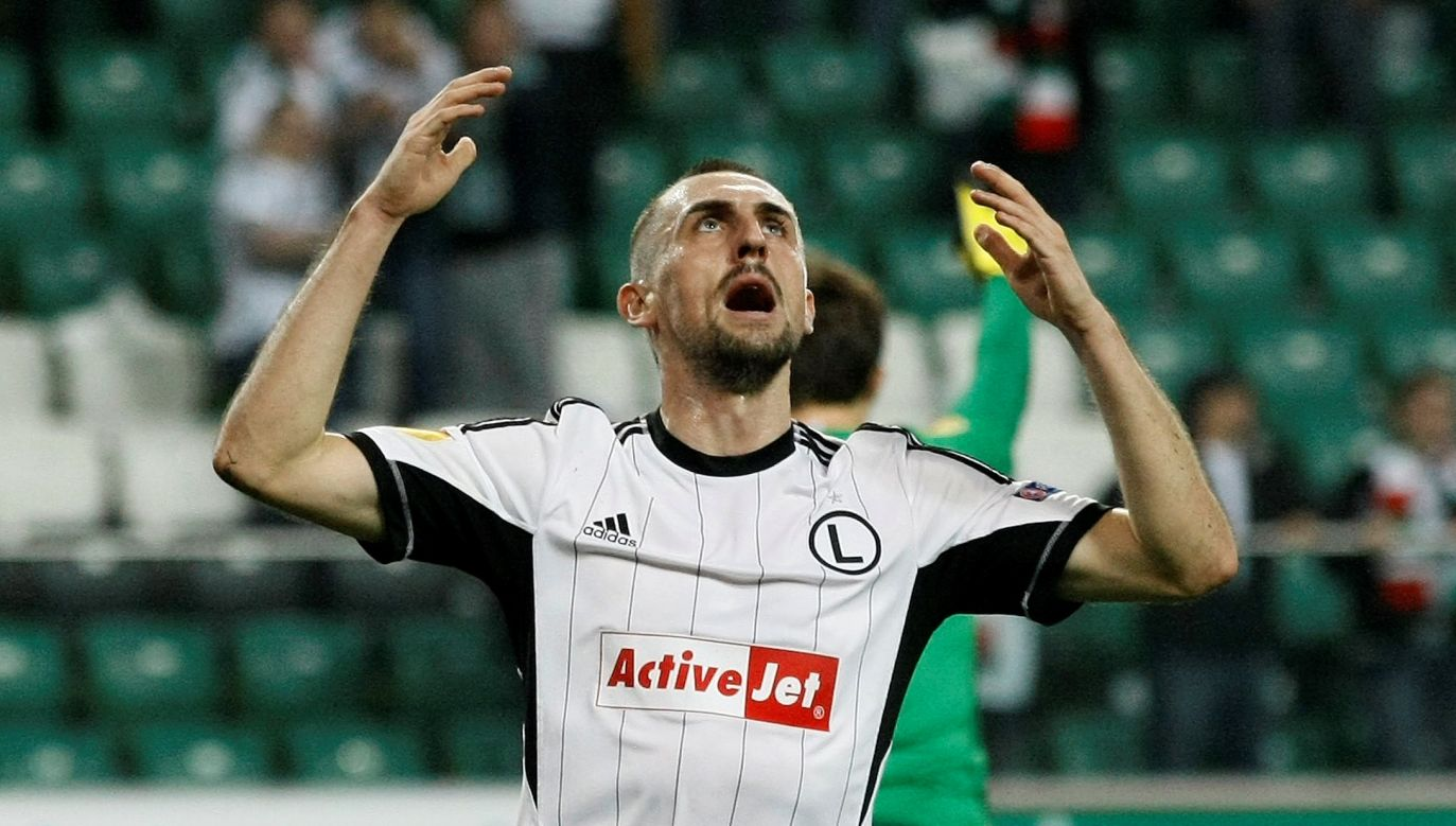 Michał Kucharczyk przez lata był jednym z najbarwniejszych piłkarzy Legii (fot. Reyters/Kacper Pempel)