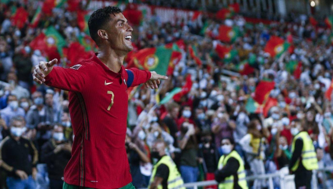 Cristiano Ronaldo strzelił już 115 goli dla reprezentacji Portugalii (fot. PAP/EPA/ANTONIO COTRIM)