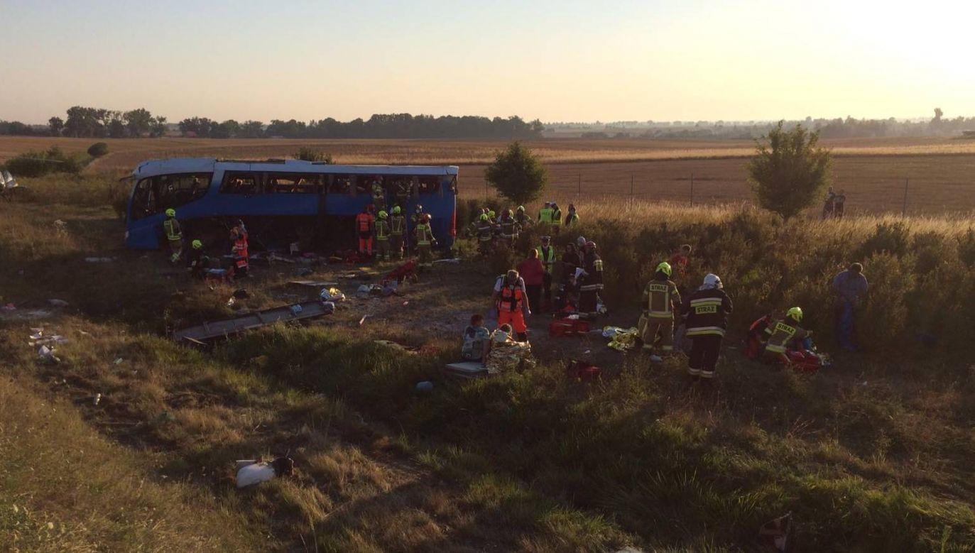 Okoliczności wypadku wyjaśnia policja (fot.  PSP Tczew)