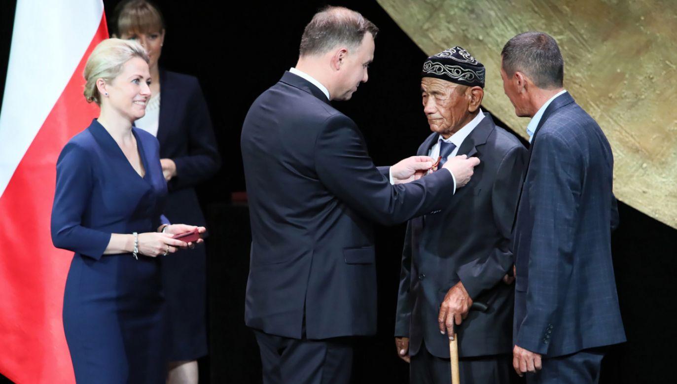 Uroczystość wręczenia medali Virtus et Fraternitas (fot. PAP/Leszek Szymański)