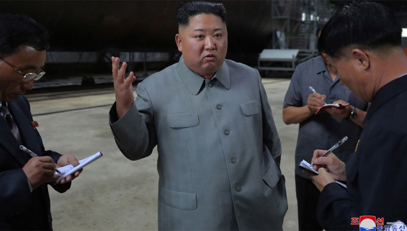 Przywódca Korei Północnej Kim Dzong Un (fot. PAP/EPA/KCNA)