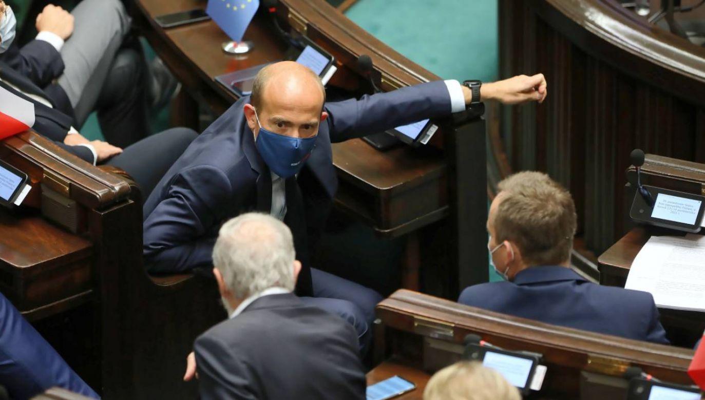 Rzecznik rządu odniósł się również do kwestii przywództwa na opozycji i Platformy Obywatelskiej (fot. PAP/Wojciech Olkuśnik)