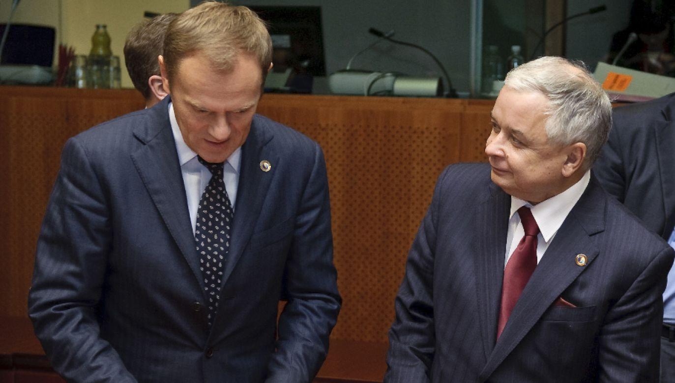 Z wynikiem ponad 54 proc. Lech Kaczyński wygrał w drugiej turze z Donaldem Tuskiem, którego poparło niecałe 46 proc. (fot. arch.PAP/Wiktor Dabkowski)